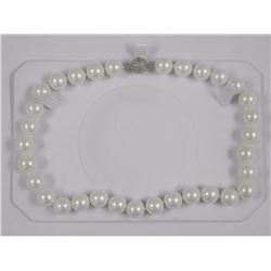 """Ladies Single Strand Pearl Necklace 16"""" - 56 Chin"""