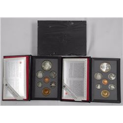 3x Canada Proof Mint Coins Sets w/ Two One Dollar