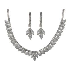 Ladies Custom Fancy Necklace and Earring Set, 80.2