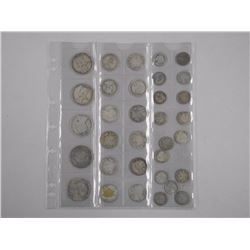 32x Silver Coin Collection - Variety of Dates. Est