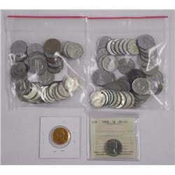Lot 101 Canada Nickels, Includes 1958. MS-65 (ICCS