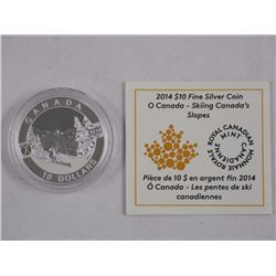 2014, .9999 Fine Silver, 'Skiing Canada's Slopes'