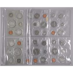 8x Canada Specimen Mint Coin Sets. 5 Silvers & 3 N