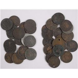 40x Canada Large One Cent Coins.