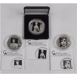 3x Ladies .925 Sterling Silver - Hollywood Legends