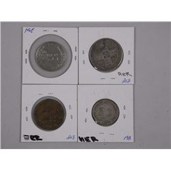 4x World Silver Coins - Italy 1922, Great Britain