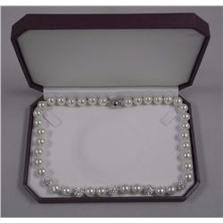"""Pearl Strand w/ 400cz, 18"""", Hand Knotted (SRRV:$8"""