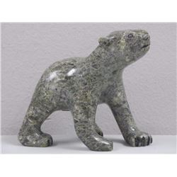 Original Stone Carving from Cape Dorset - BEAR wit