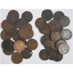 40x Canada Large One Cent.