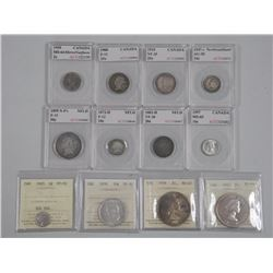 12x Canada Graded Coins by ACG and Mix of Dates an