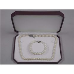One Single Strand of Pearls 7mm and Matching Brace