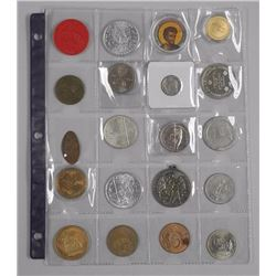 20x Estate Mixed Coins, Tokens, Silver Coins and N