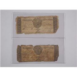 Lot of (2) Fractional Currency USA - 1/2 Dollar an