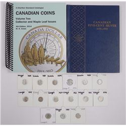 15x Canada Silver 5 Cents, Mix of Monarchs 1800's