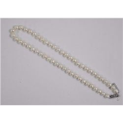 """Ladies 16"""" Strand Pearl Necklace, 7-8mm. (SRRV:$3"""