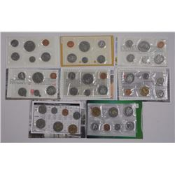 8x RCM Specimen Coins Sets UNC. New (Attn: Eight T