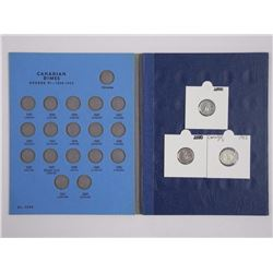 Lot Canada Dime Blue Book & (6) Ten Cents.