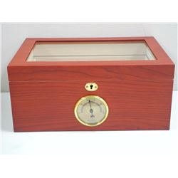 Executive Humidor - Cedar Lined Burl Wood Finish