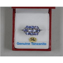 Ladies 14kt White Gold and Tanzanite Ring. 10 Oval
