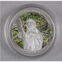 'Monkey' .925 Silver Proof Money Coin. LE/COA, 100