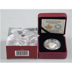 RCM 'Royal Visit Coin' .9999 Fine Silver High Reli