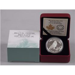 RCM Issue: 2014 $5 Fine Silver Coin Bank Note Seri