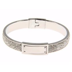 Ladies Custom Bracelet with White Gold Plating. 49