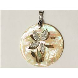 #15-STERLING SILVER MOTHER OF PEARL PENDANT