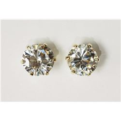 #16-10KT YELLOW GOLD CUBIC ZIRCONIA STUD