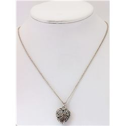 #25-STERLING SILVER HEART SHAPED NECKLACE