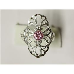 #28-STERLING SILVER CUBIC ZIRCONIA RING