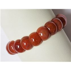 #34-GENUINE CARNELIAN FLEXIBLE BANGLE