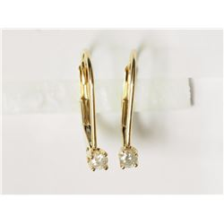 #36-14KT YELLOW GOLD DIAMOND(0.11CT)EARRINGS