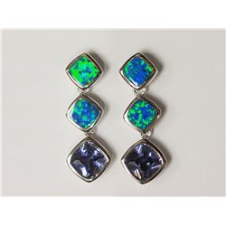 #39-STERLING SILVER TANZANITE CREATED OPAL