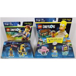 NEW LEGO DIMENSIONS 98PC SIMPSONS LEVEL PACK SOLD