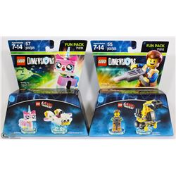 NEW LEGO DIMENSIONS 55PC LEGO MOVIE FUN PACK WITH