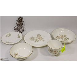 "5PC ""YORKSHIRE ROSE"" ROYAL DOULTON CHINA SET"