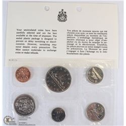 1972 CANADIAN 6 COIN UNCIRCULATED SET WITH COA
