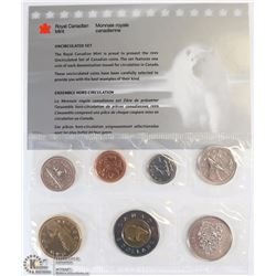 1999 CANADIAN 7 COIN UNCIRCULATED SET WITH COA
