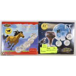TWO SEALED REEL COINZ SETS: ET AND SPIRIT