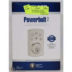 WEISER POWERBOLD SILVER TOUCHPAD ELECTRIC DEADBOLT
