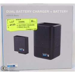 GOPRO DUAL BATTERY CHARGER W/ BATTERY HERO5 BLACK