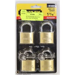 "STANLEY STANDARD SHACKLE PADLOCK 1-9/16"" OUTDOOR"