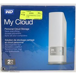 WD MY CLOUD PERSONAL CLOUD STORAGE 2TB