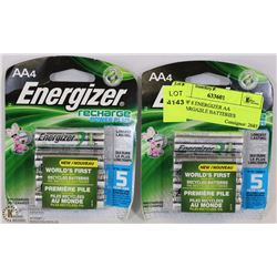 LOT OF 8 ENERGIZER AA RECHARGEABLE BATTERIES