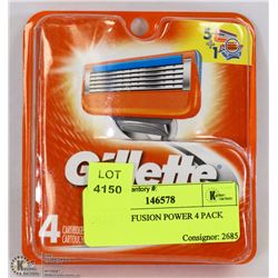 GILLETTE FUSION POWER 4 PACK