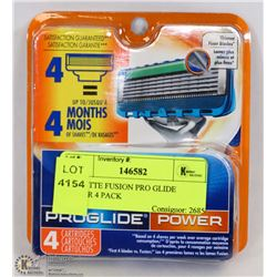GILLETTE FUSION PRO GLIDE POWER 4 PACK