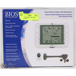 BIOS WEATHER STATION WITH WIND SPEED