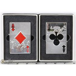 NEW LOT OF 2 LARGE ACE OF CLUBS & DIAMONDS SAFARI