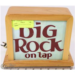 VINTAGE BIG ROCK ON TAP BAR LIGHT